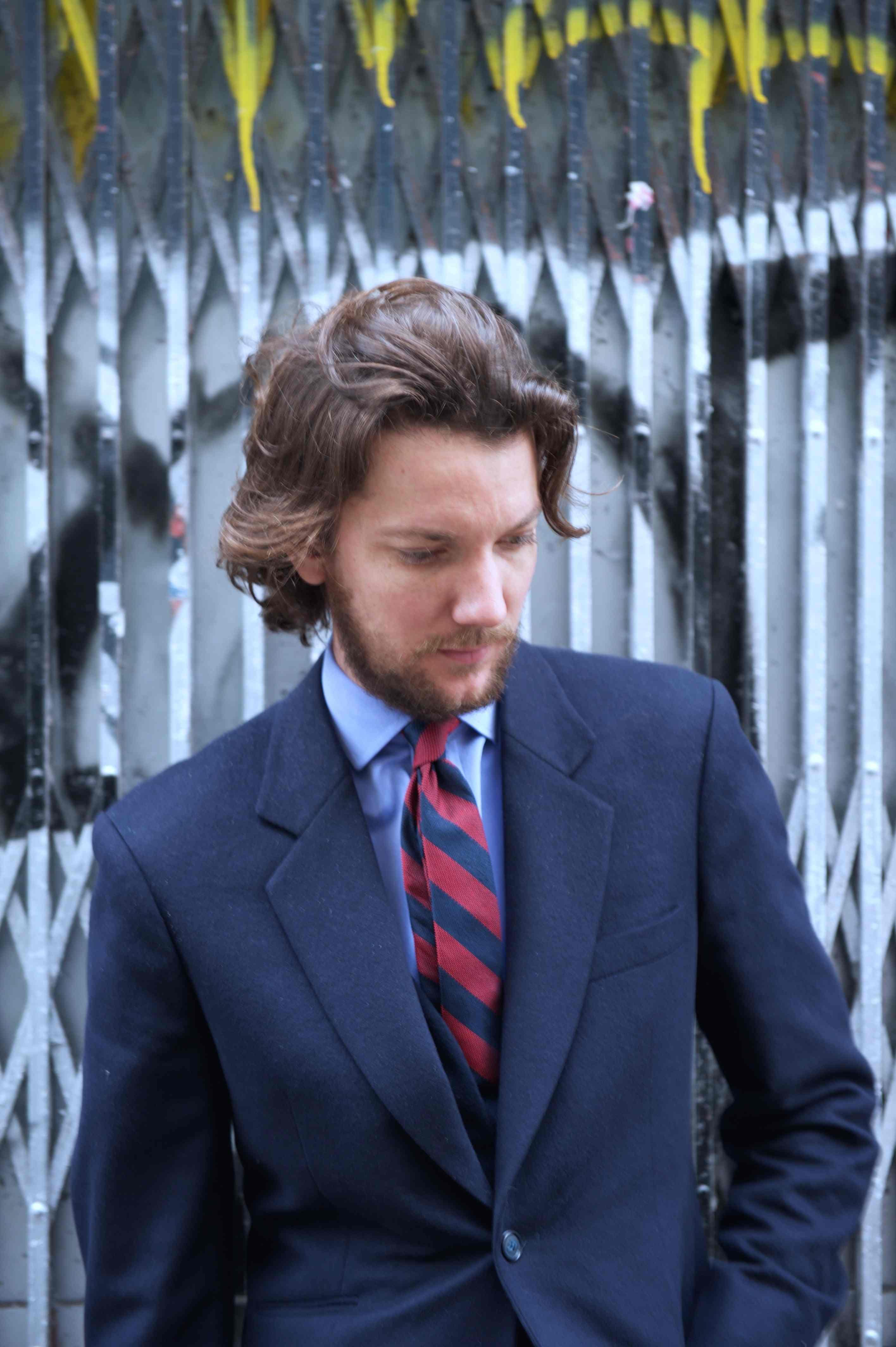 Alexandre cravate Cinabre velours soie noir