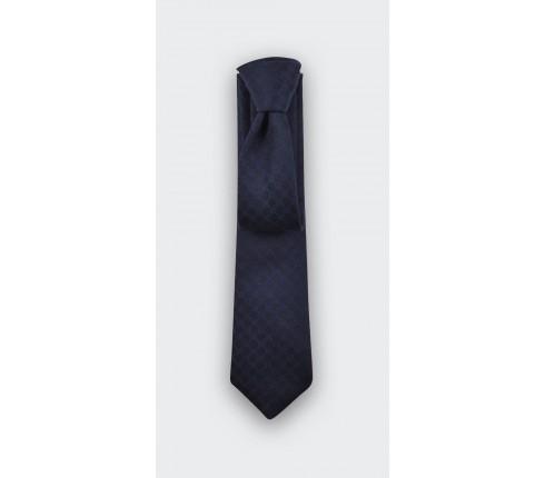 navy blue polka dots tie - cinabre paris