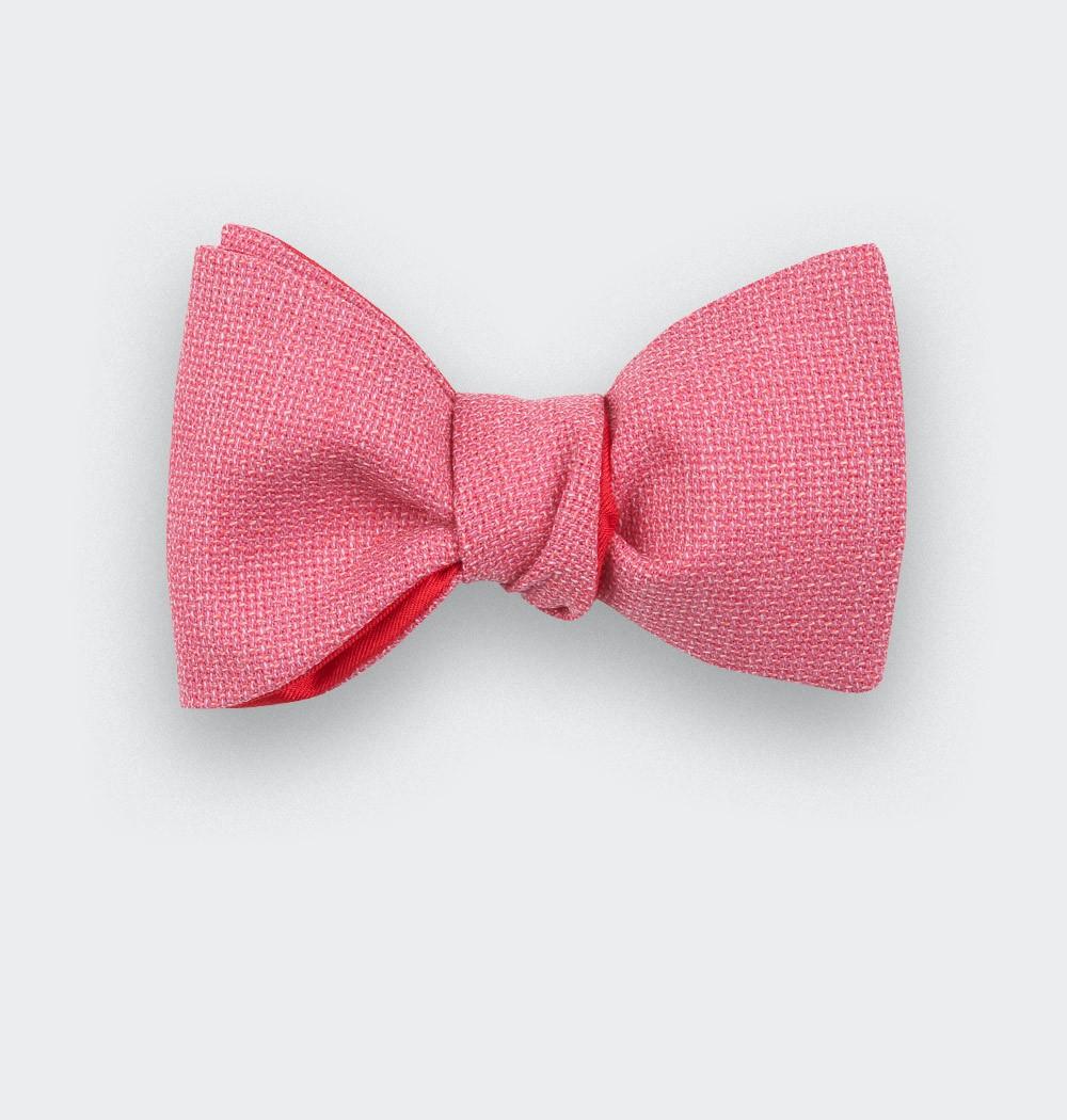 CINABRE PARIS - Noeud Papillon - Maille rose - Fait main