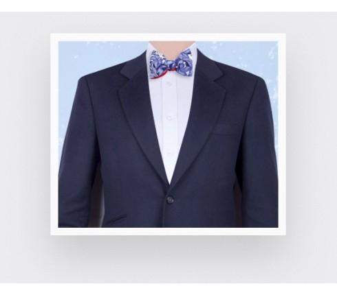 turquoise blue flower bow tie - cotton - cinabre paris