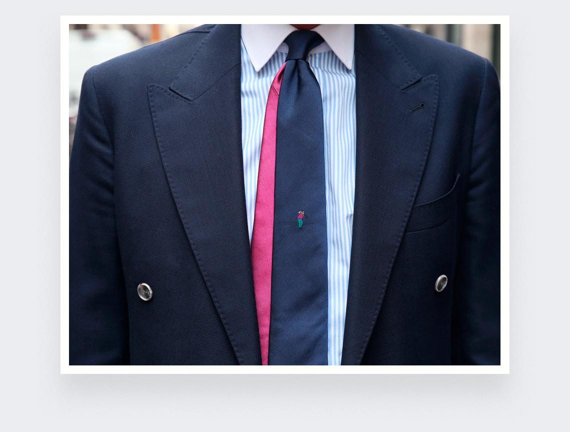 John Daly golf tie - silk - Cinabre Paris
