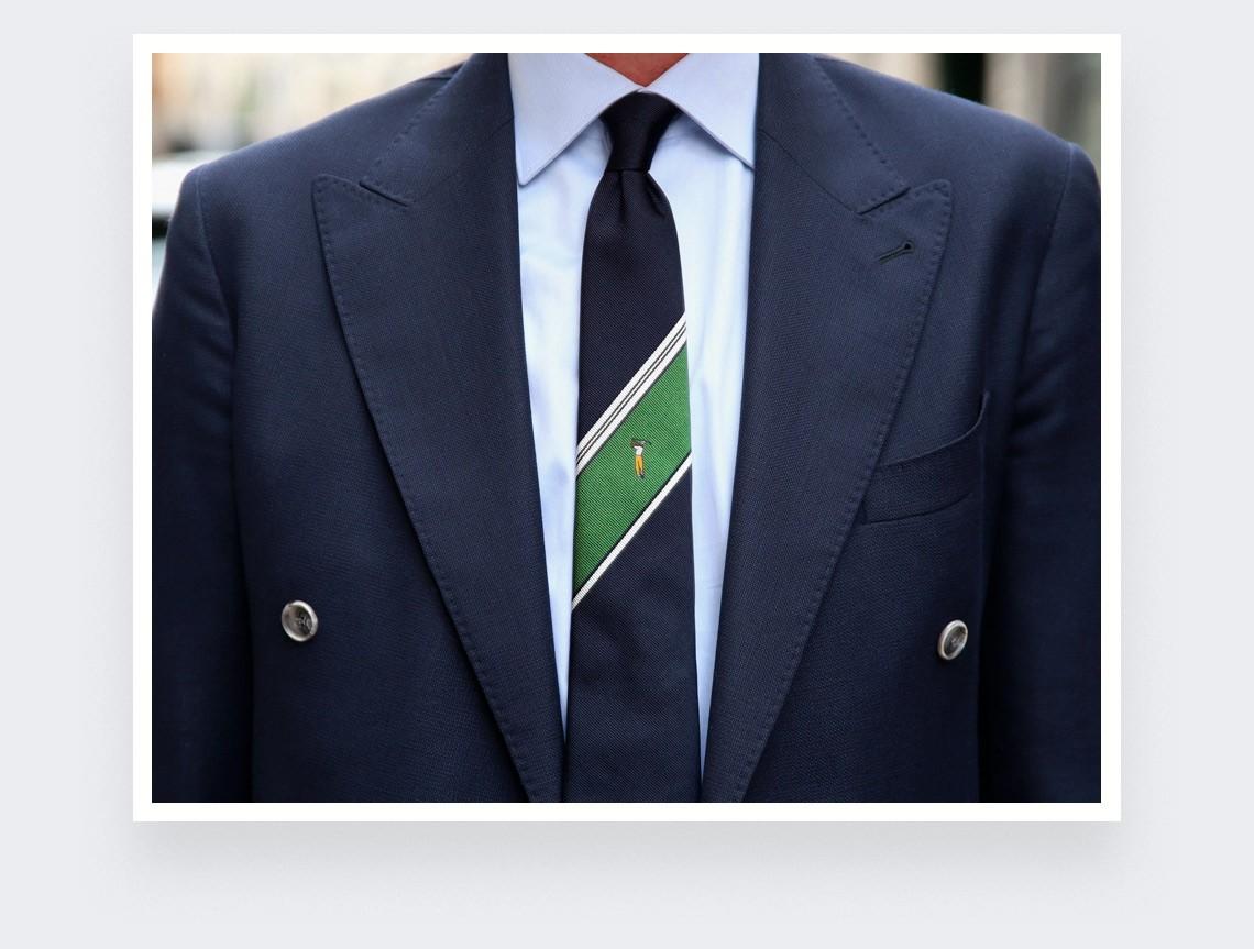 Ben Hogan golf tie - silk - Cinabre Paris