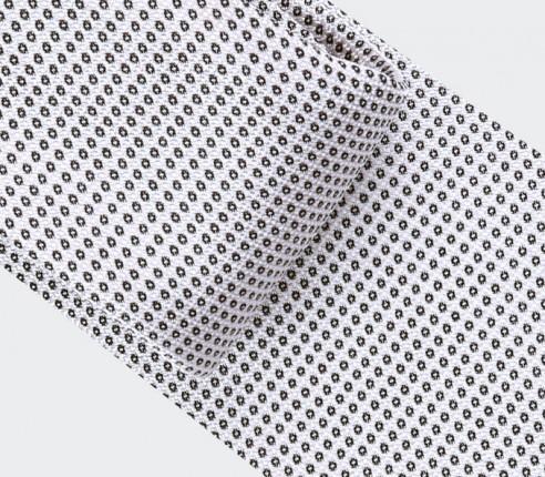Silver Birdseye silk Tie - cinabre paris