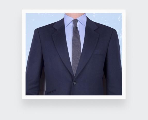 Cravate cachemire Cinabre bleu marine - cinabre paris