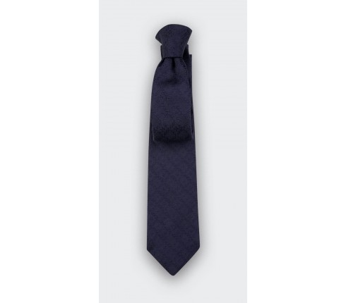 Navy blue Dots Cane tie - silk - Cinabre Paris