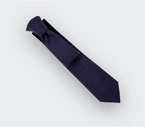 Cravate Seersucker Camaïeu Marine  - coton seersucker - Cinabre Paris