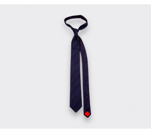 Navy blue shades Club Tie - silk - Cinabre Paris