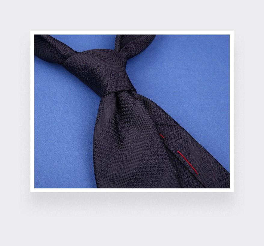 Cravate Club Camaïeu Marine  - soie - Cinabre Paris