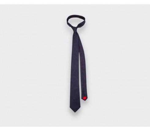 Navy blue shades Paisley Tie - silk - Cinabre Paris
