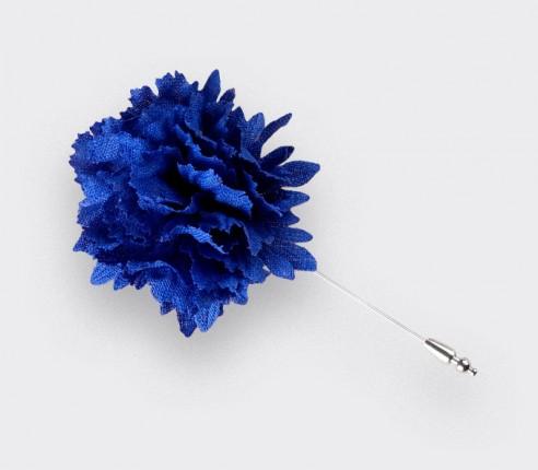 Boutonnière Bleuet Cinabre solidaire - Lin - Fait-main