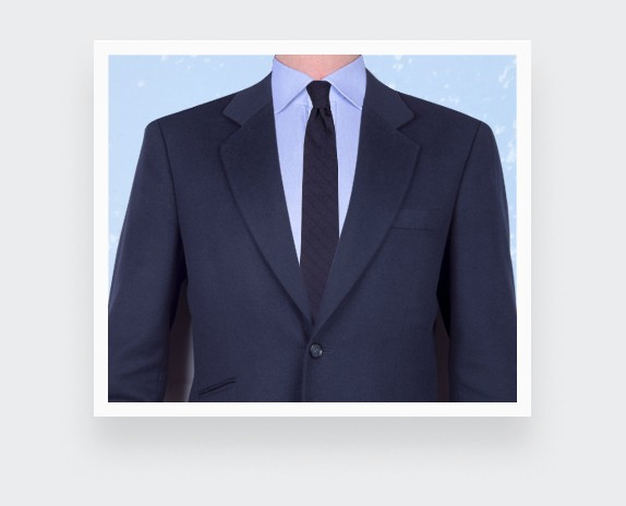 Navy blue Dots Cane tie - silk - Cinabre Paris
