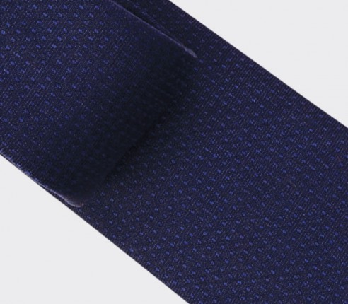 Navy blue shades dots tie - wool - Cinabre Paris