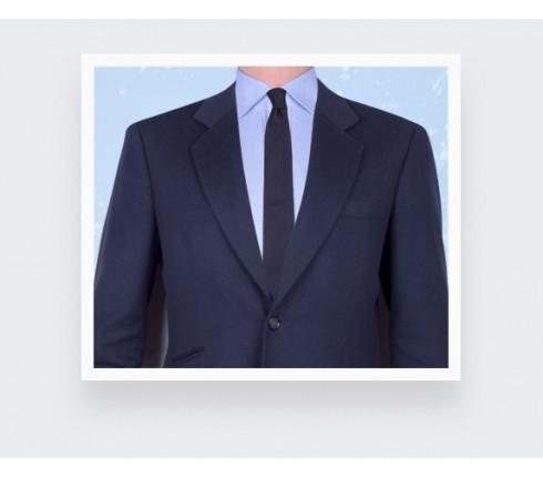 Cravate Tiret Texture Marine - soie - Cinabre Paris
