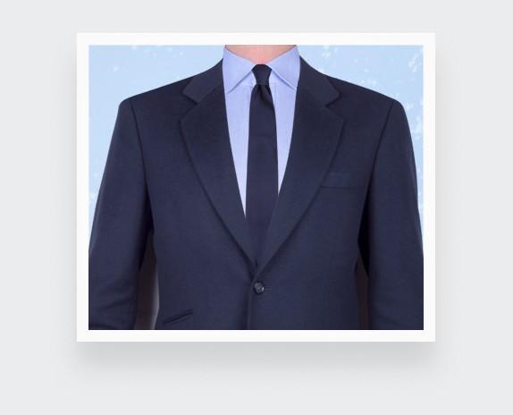 Twill 3D navy blue tie - silk - Cinabre Paris