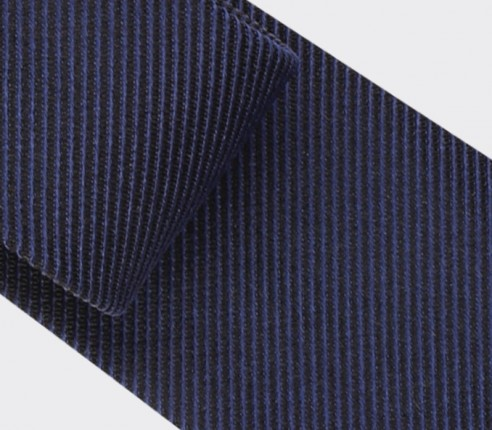 Twill 3D navy blue tie - silk - Cinabre Paris