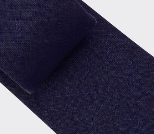 Cravate Griffé Marine  - laine - Cinabre Paris