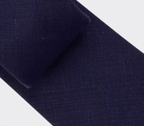 Navy blue Griffé Tie - wool - Cinabre Paris