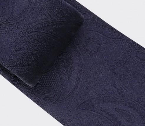Cravate Paisley Camaïeu Marine - soie - Cinabre Paris