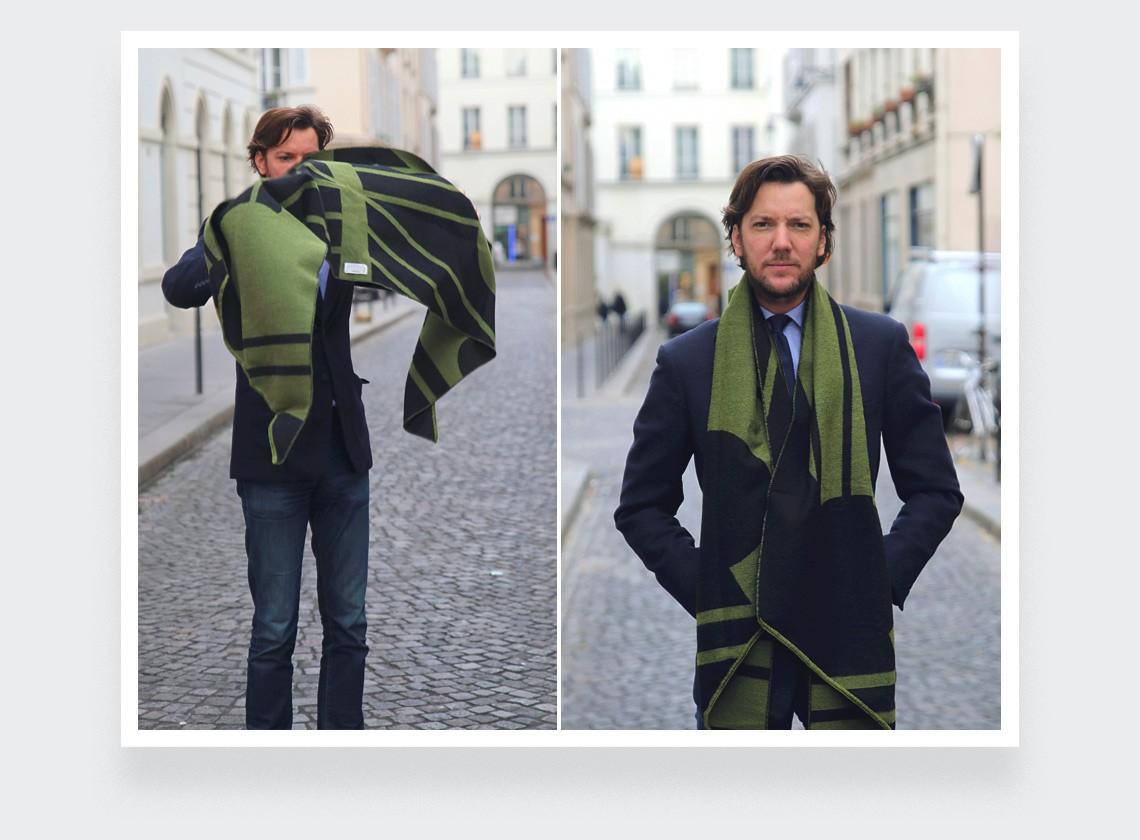 Green scarf - cinabre paris