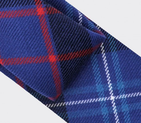 cravate tartan fitzgerald bleu - cinabre paris
