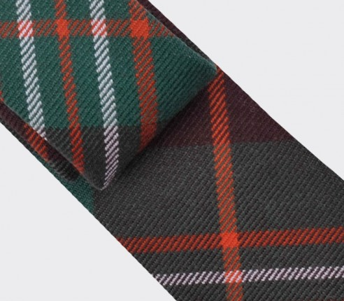 Green scott tartan tie - cinabre paris