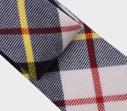 cravate tartan blanc Macrae - cinabre paris