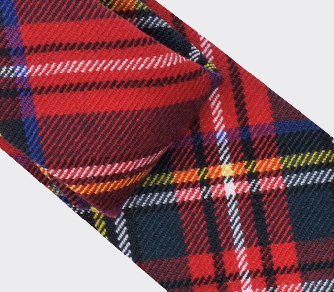cravate tartan rouge Stewart royal - cinabre paris