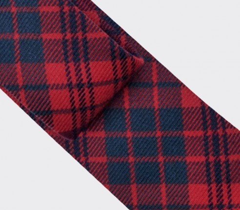 cravate tartan rouge ross - cinabre paris
