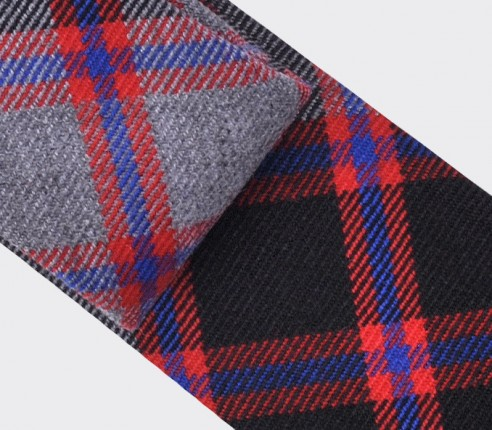 cravate tartan gris - cinabre paris