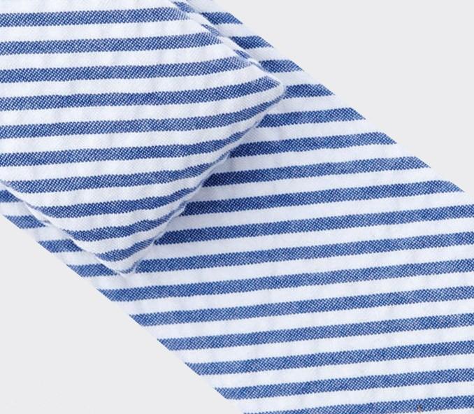 tie seersucker - cotton silk - cinabre paris
