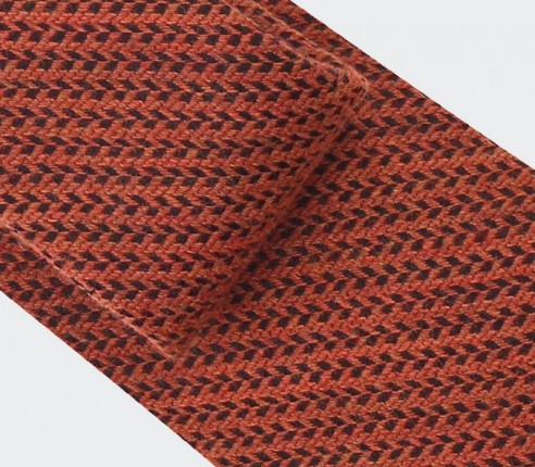 cravate chevron bi couleur orange - cinabre paris