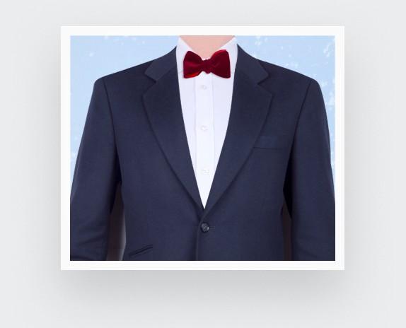 Burgundy Velvet Bow Tie