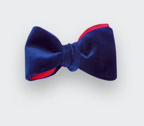 Blue Velvet Bow Tie - cinabre paris
