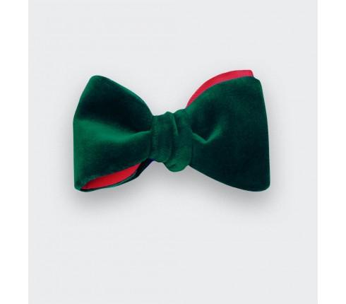 Green Velvet Bow Tie - cinabre paris