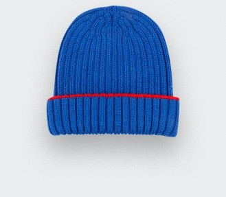 electric blue beanie from Cinabre