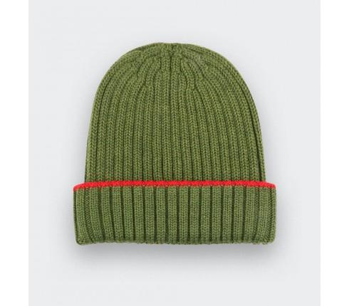 Green merino wool beanie