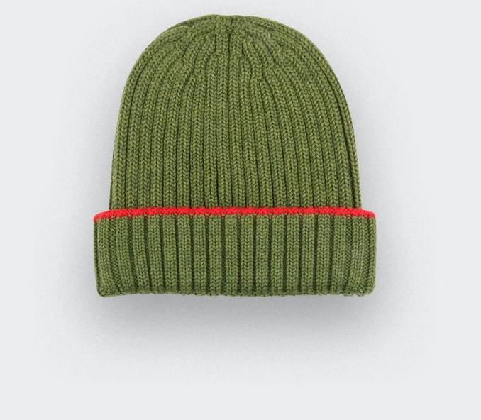 bonnet vert en laine merinos
