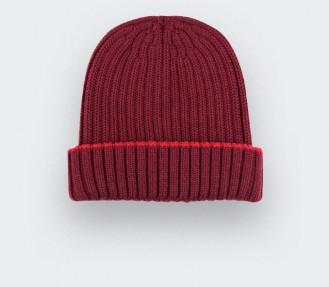 Bonnet bordeaux laine mérinos