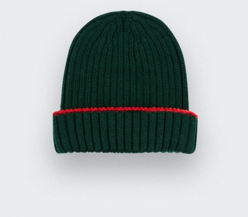 Dark green beanie by Cinabre paris