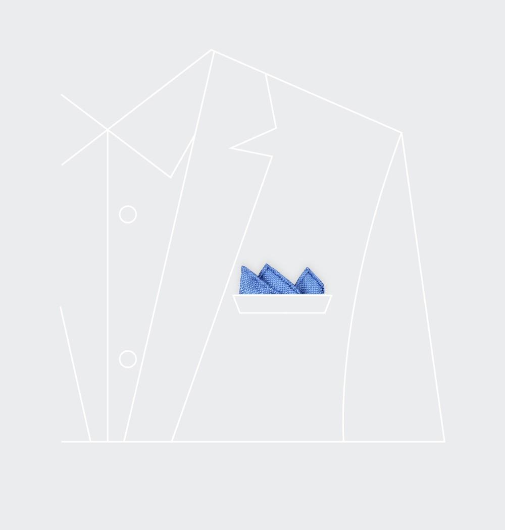 CINABRE Paris - Pochette - Soie tissée Bleu Denim - Fait Main