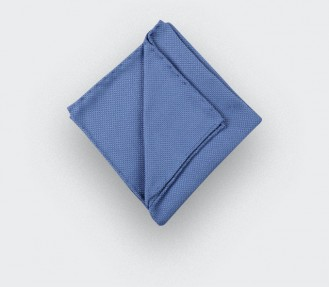 CINABRE Paris - Pocket square - Blue Denim woven silk - Hand Made