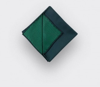 CINABRE Paris - Pocket Square - Green birdseye - Handmade