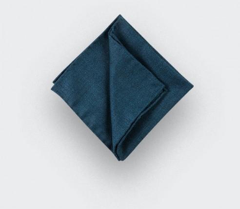 CINABRE Paris - Pocket square - Peacock Blue Mesh - Hand Made