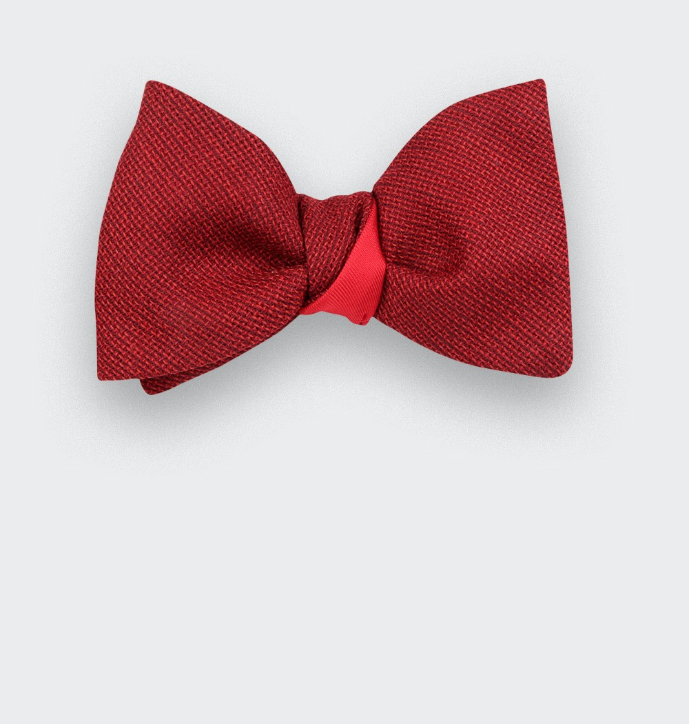 red mesh bow tie - cinabre paris