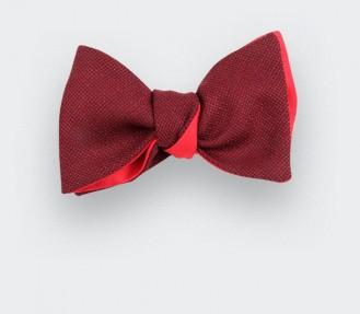 Burgundy mesh Bow Tie