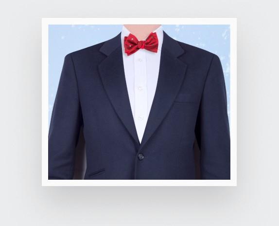 red snowflakes bow tie - cinabre paris
