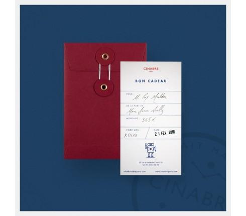 Boutonnière - carte cadeau 95euros - Cinabre
