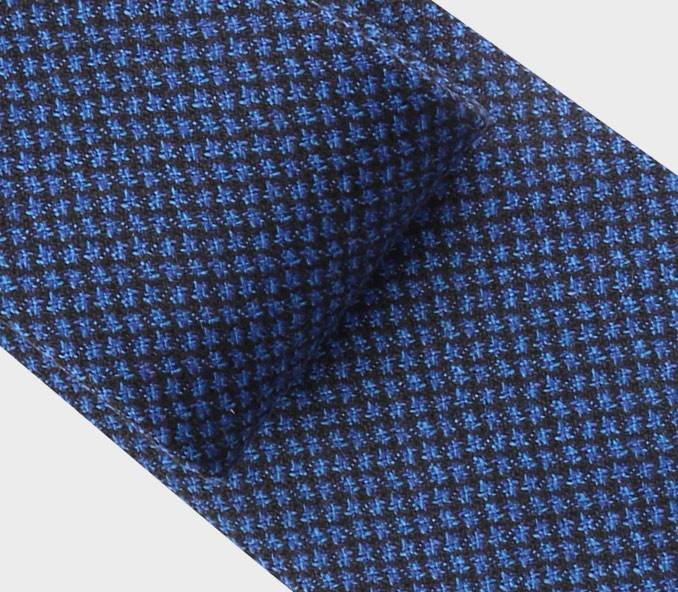 navy blue meteorite tie - cinabre paris