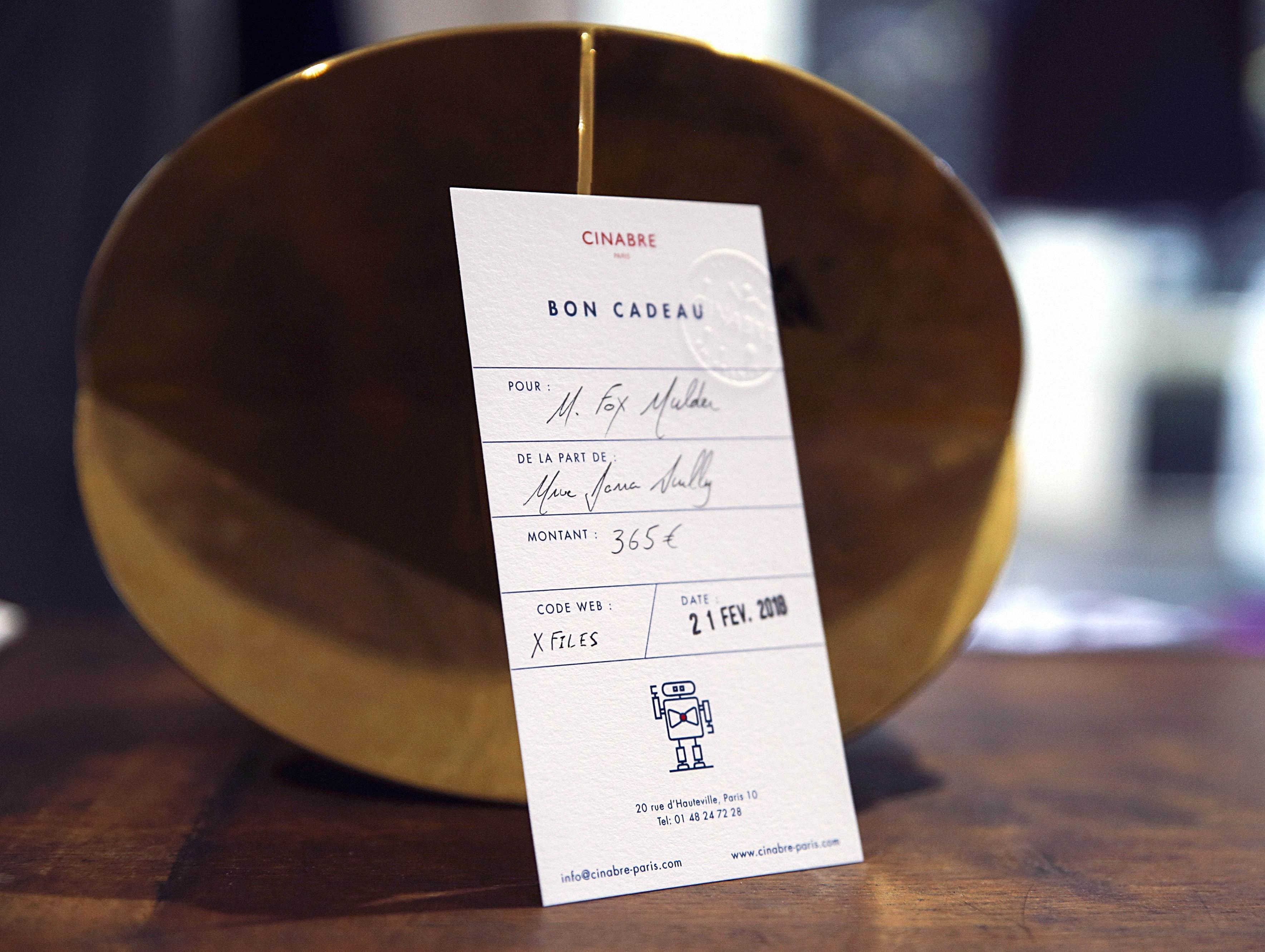 Porte cartes - carte cadeau 135euros - Cinabre