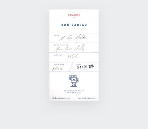 Lapel pin - 95euros gift card - Cinabre